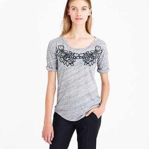 J. Crew Floral Appliqué T-Shirt
